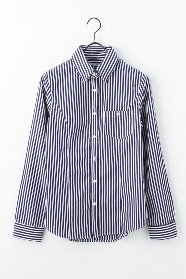 THOMAS MASON ストライプ1ポケシャツ
