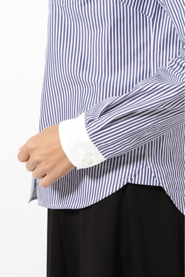BASIC ストライプシャツ