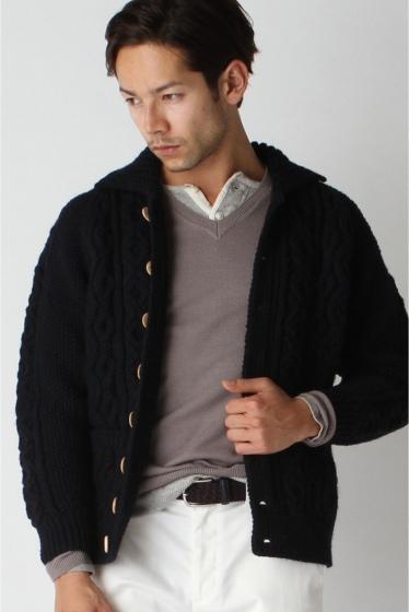 ���㡼�ʥ륹��������� ���塼�� INVERALLAN / ����С������: Lamber Cardigan with Collar / �˥åȥ����ǥ����� �ͥ��ӡ�