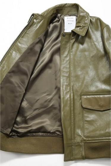 ���ƥ�����å� MR.GENTLEMAN LEATHER A2 JACKET �ܺٲ���15