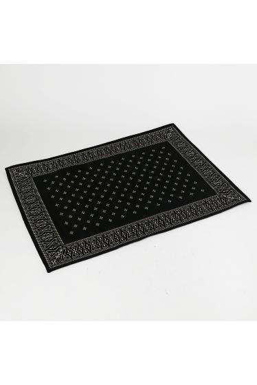 ������ �ե��˥��㡼 Cross Bandanna Rug BK 160X120 �֥�å�
