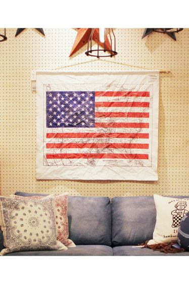 ���㡼�ʥ륹��������� �ե��˥��㡼 T.KGARMENT SUPPLY x JSF US FLAG TAPESTRY �������� K