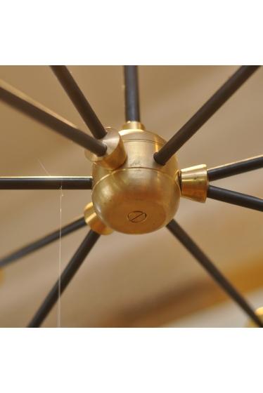 ������ �ե��˥��㡼 SOLID BRASS LAMP 9ARM BK PIPE �ܺٲ���1