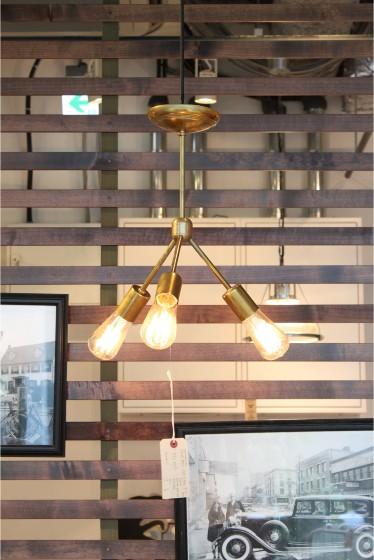 ������ �ե��˥��㡼 SOLID BRASS LAMP 3ARM 45 �������� K