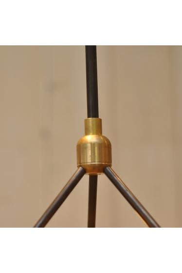 ������ �ե��˥��㡼 SOLID BRASS LAMP 3ARM 45 BK PIPE �ܺٲ���1