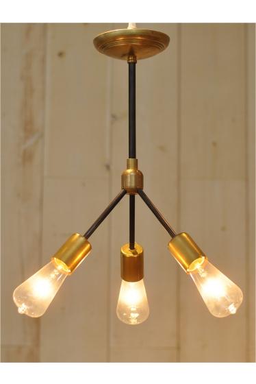 ������ �ե��˥��㡼 SOLID BRASS LAMP 3ARM 45 BK PIPE �������� K