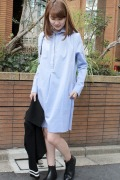 ���ǥ��å� �ե��� ��� ��ATEA OCEANIE SHIRT DRESS
