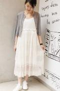 ���ǥ��å� �ե��� ��� ��ECUI Raschel Lace Nostalgic Dress