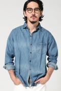 ���㡼�ʥ륹��������� WHITE LINE / �ۥ磻�ȥ饤��: DENIM ChangeCollarShirtWashed / �����