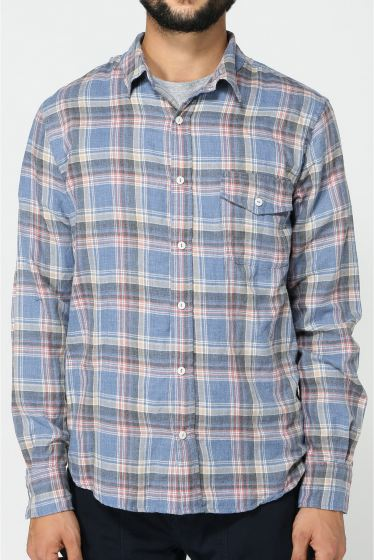 �����֥�������ʥ��ƥå� YARN DYE FLANNEL WORK SHIRT �ܺٲ���2