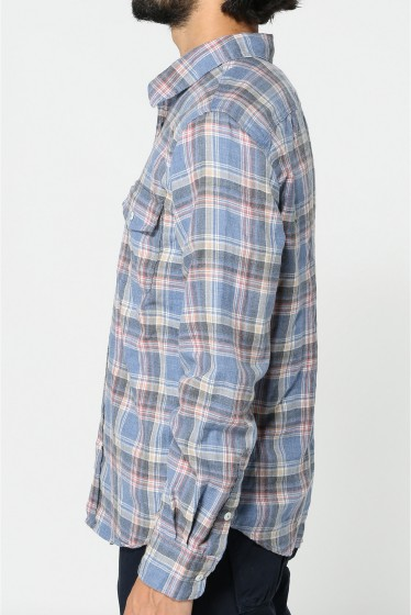 �����֥�������ʥ��ƥå� YARN DYE FLANNEL WORK SHIRT �ܺٲ���3