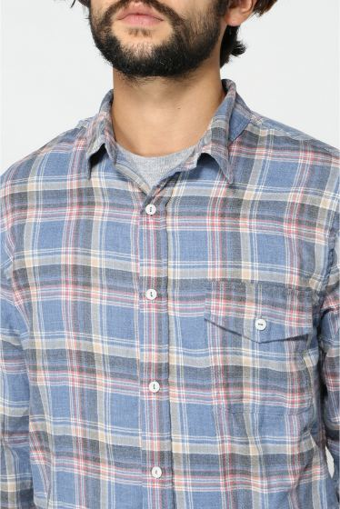 �����֥�������ʥ��ƥå� YARN DYE FLANNEL WORK SHIRT �ܺٲ���5