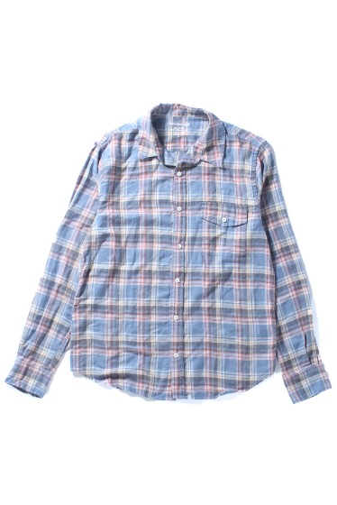 �����֥�������ʥ��ƥå� YARN DYE FLANNEL WORK SHIRT �֥롼