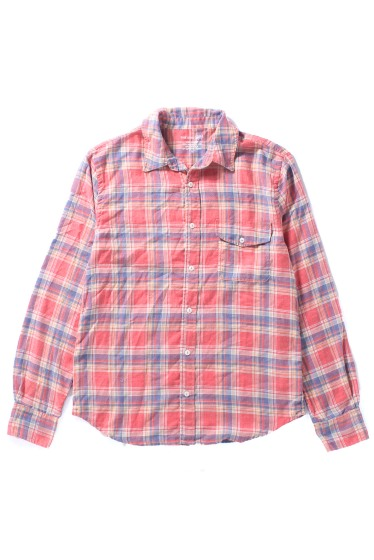 �����֥�������ʥ��ƥå� YARN DYE FLANNEL WORK SHIRT ��å�