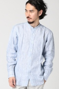 ���㡼�ʥ륹��������� HAMILTON Shirts Co./ �ϥߥ�ȥ�: Blue w/White 100% Linen / �����