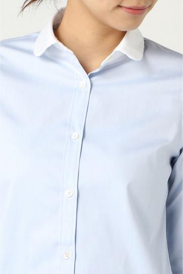 THOMAS MASON クレリックラウンドカラーシャツ
