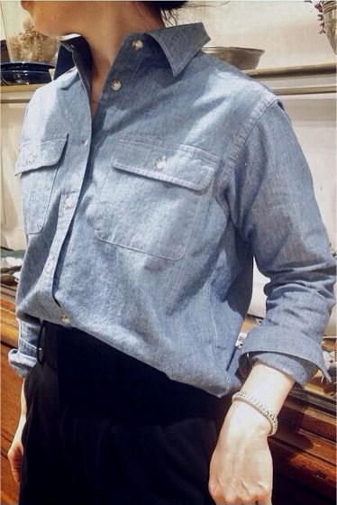 コットンダンガリーシャツ