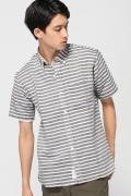 ���㡼�ʥ륹��������� APOLIS / ���ݥꥹ: Linen Stripe S/S ButtonDown / �����