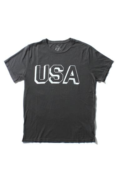 �����֥�������ʥ��ƥå� USA BLOCK PRINT TEE �֥�å� A
