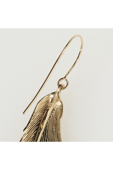 ���ѥ�ȥ�� �ɥ����������� ���饹 MANON VON GERKAN FEATHER BIG EARRING �ܺٲ���3