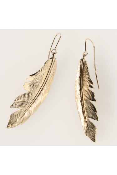 ���ѥ�ȥ�� �ɥ����������� ���饹 MANON VON GERKAN FEATHER BIG EARRING �������