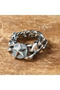 ���㡼�ʥ륹��������� AMP JAPAN chain star ring/����� ���������