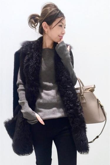 ���ѥ�ȥ�� �ɥ����������� ���饹 ��BLANCHA Mouton Vest �֥饦��