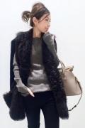 ���ѥ�ȥ�� �ɥ����������� ���饹 ��BLANCHA Mouton Vest