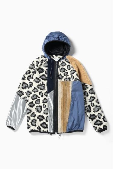 ���ƥ�����å� plumpynuts multi fabric hoodie jacket - CITYSHOP EXCLUSIVE - �֥롼