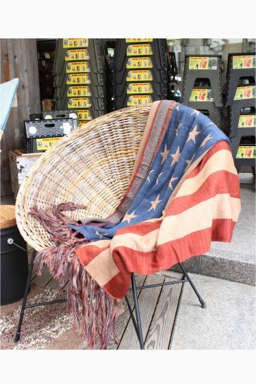 ���㡼�ʥ륹��������� �ե��˥��㡼 US FLAG WOOL BLANKET �������� K