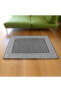 ������ �ե��˥��㡼 Cross Bandanna Rug 140*100 GRAY ���?�Х���ʥ饰�ޥå� ���졼