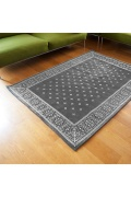 ������ �ե��˥��㡼 Cross Bandanna Rug 200*140 GRAY ���?�Х���ʥ饰�ޥå� ���졼