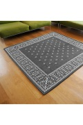 ������ �ե��˥��㡼 Cross Bandanna Rug 200*200 GRAY ���?�Х���ʥ饰�ޥå� ���졼