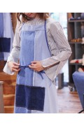 ���㡼�ʥ륹��������� �ե��˥��㡼 INDIGO PATCH APRON