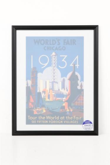 ������ �ե��˥��㡼 POSTER WORLDS FAIR CHICAGO 1934 17X22 �������� K