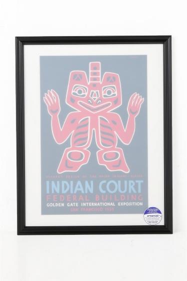 ������ �ե��˥��㡼 POSTER INDIAN COURT HAIDA BLANKET DESIGN �������� K