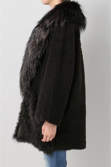 ���ѥ�ȥ�� �ɥ����������� ���饹 ��BLANCHA Mouton*Fox COAT �ܺٲ���2