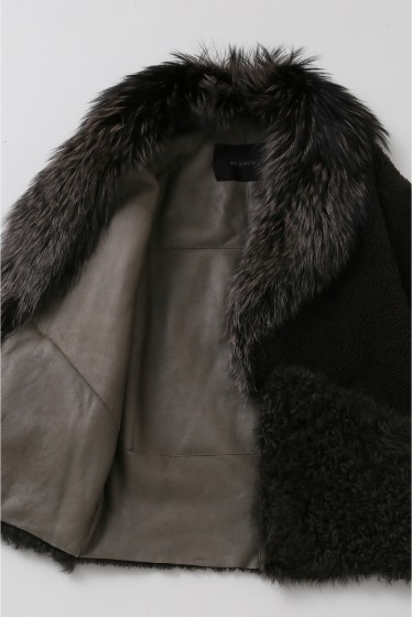 ���ѥ�ȥ�� �ɥ����������� ���饹 ��BLANCHA Mouton*Fox COAT �ܺٲ���9