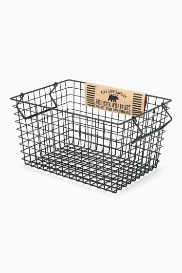 ���㡼�ʥ륹��������� �ե��˥��㡼 Rochester wire basket L bk �������� K