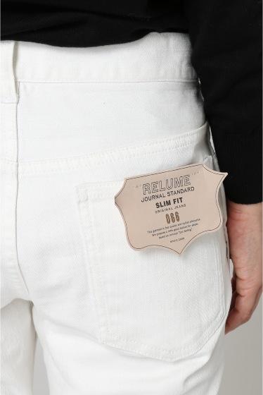 JOURNAL STANDARD relume ST/WHITE JEAN SLIM FIT:ストレッチホワイトジーンズ スリムフィット
