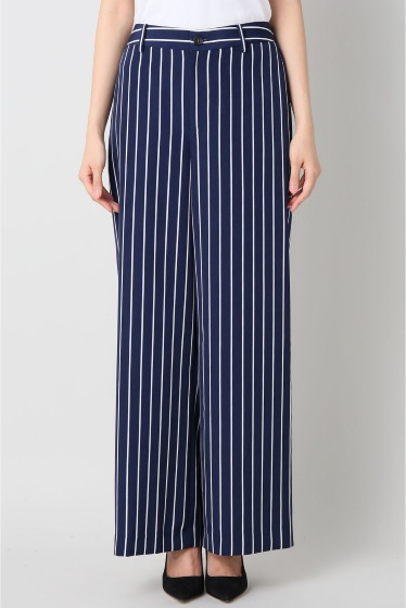 ���ѥ�ȥ�� �ɥ����������� ���饹 stripe wide pants�� �ܺٲ���1