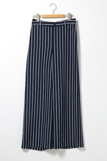 ���ѥ�ȥ�� �ɥ����������� ���饹 stripe wide pants�� �ܺٲ���11