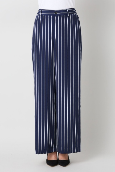���ѥ�ȥ�� �ɥ����������� ���饹 stripe wide pants�� �ܺٲ���12