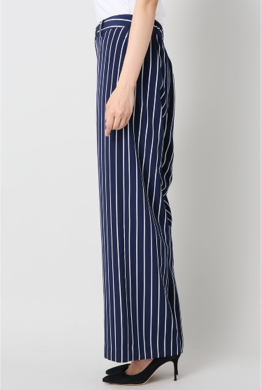 ���ѥ�ȥ�� �ɥ����������� ���饹 stripe wide pants�� �ܺٲ���2