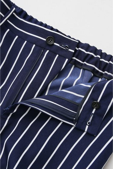 ���ѥ�ȥ�� �ɥ����������� ���饹 stripe wide pants�� �ܺٲ���9