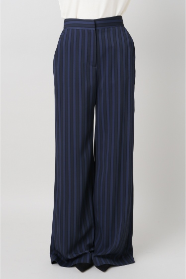 ���ѥ�ȥ�� �ɥ����������� ���饹 ��ATEA OCEANIE Stripe Wide pants �ͥ��ӡ�