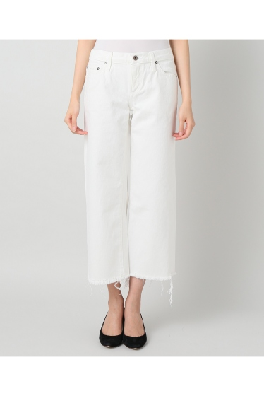 ���ѥ�ȥ�� �ɥ����������� ���饹 ��SIMON MILLER Cropped Flare White Denim �ܺٲ���1