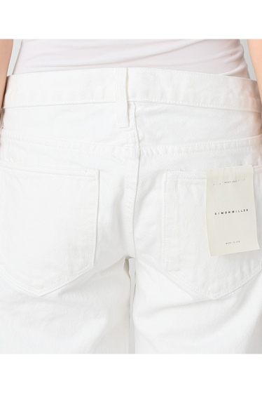 ���ѥ�ȥ�� �ɥ����������� ���饹 ��SIMON MILLER Cropped Flare White Denim �ܺٲ���5