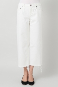 ���ѥ�ȥ�� �ɥ����������� ���饹 ��SIMON MILLER Cropped Flare White Denim