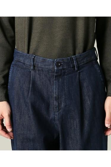 ���㡼�ʥ륹��������� RICCARDO METHA / �ꥫ��ɥ�å�:mens 1tuck wide trouser denim �ܺٲ���5